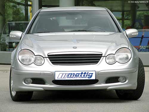Mecredes C Class W203 Coupe Badge-less Grille